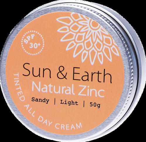 Sun & Earth Tinted All Day Cream SPF 30+ Sandy Light 50g