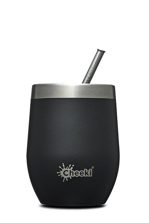 Cheeki Insulated Tumbler 320ml - Rich Black