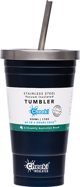 Cheeki Tumbler insulated - includes straw - Ocean - 500ml