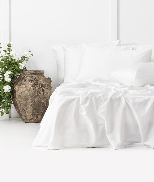 Bhumi Sateen Sheet Set in White