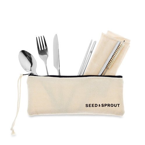 Seed & Sprout Travel Utensil Pouch