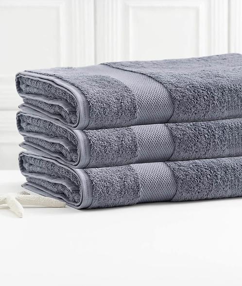Bhumi Bath Towel in Granite Blue