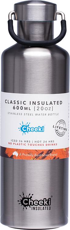 Cheeki Stainless Steel bottle insulated - Silver - 600ml