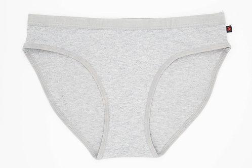 Etiko Underwear - Women's bikini heather grey