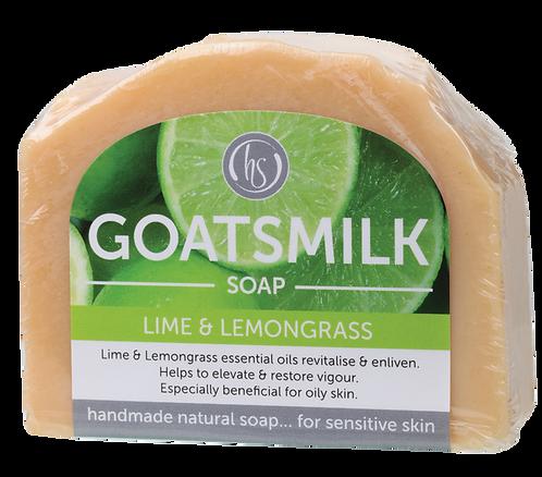 Harmony Soapworks Goat's Milk Soap Lime & Lemongrass 140g
