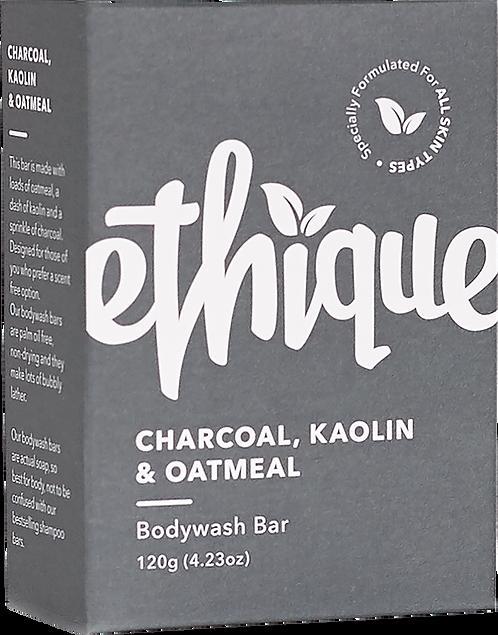 Ethique Solid Bodywash Bar - Charcoal, Kaolin & Oatmeal 120gm