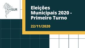 Domingueira AMSUR: Eleições Municipais 2020 - Primeiro Turno