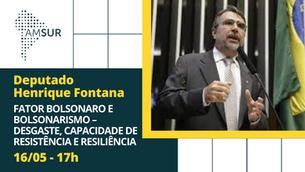 Domingueira AMSUR: Fator Bolsonaro e Bolsonarismo– Desgaste, Capacidade de Resistência e Resiliência