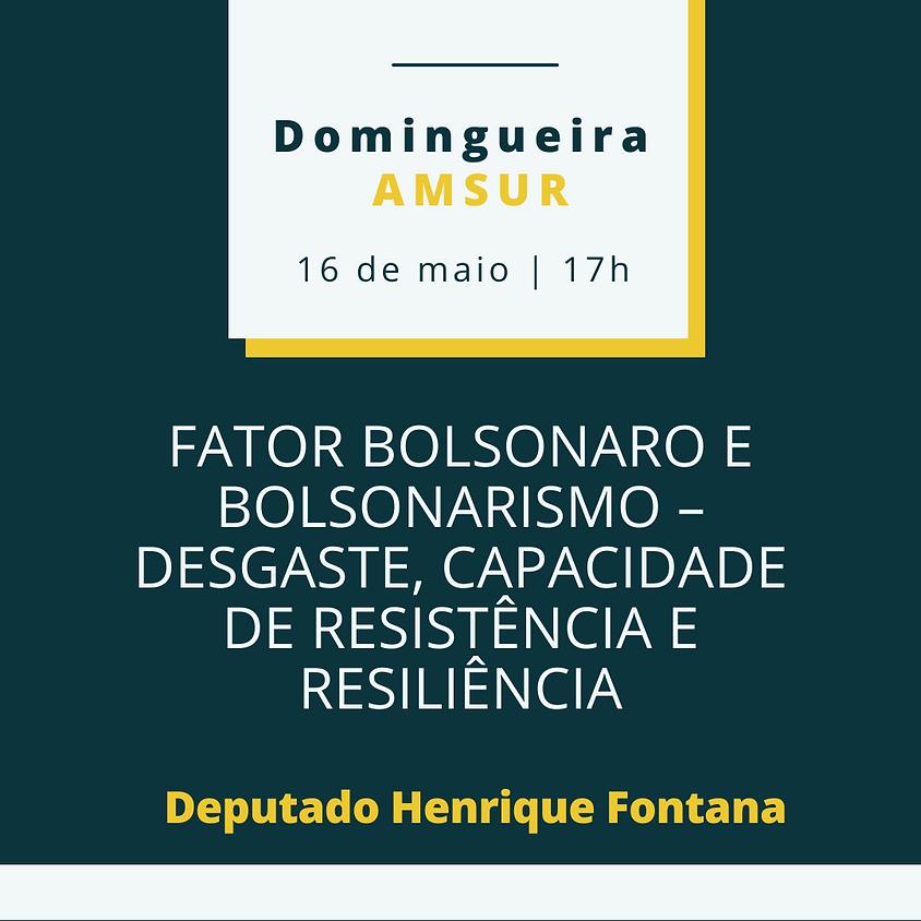 Domingueira AMSUR: Fator Bolsonaro e Bolsonarismo – Desgaste, Capacidade de Resistência e Resiliência