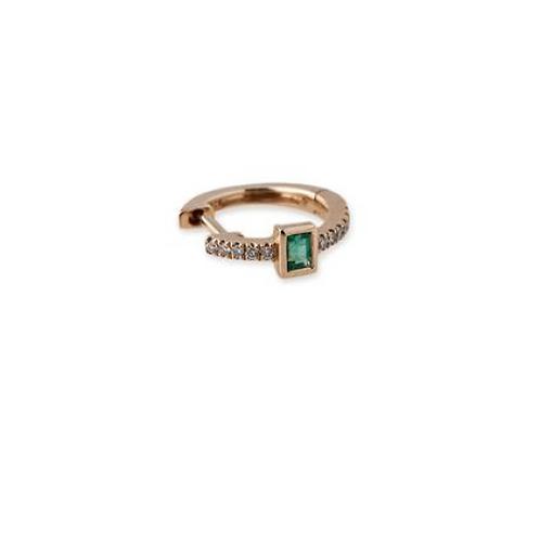 Jacquie Aiche - Emerald Baguette Mini Hoops