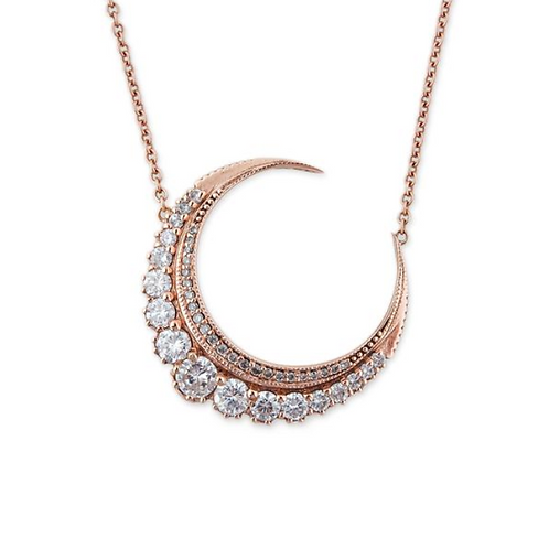 Jacquie Aiche - Diamond Crescent Moon Necklace