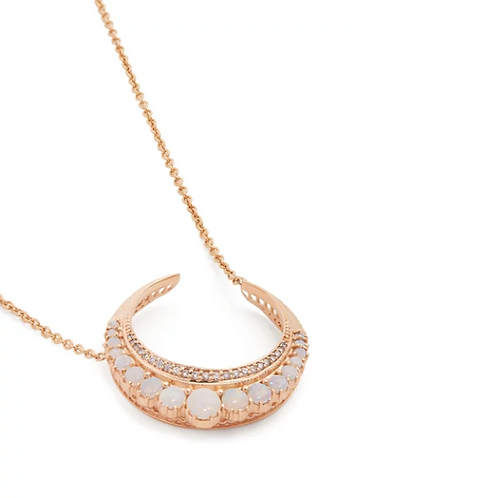 Jacquie Aiche - Opal Crescent Necklace