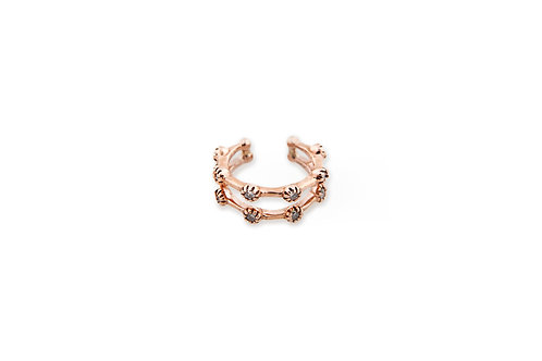 Jacquie Aiche - Double Row Prong Ear Set with Diamonds