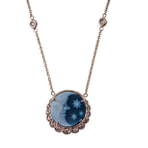 Jacquie Aiche - Moon & Stars Cameo Necklace
