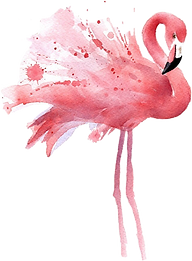 flamingo-clipart-gold-17.png