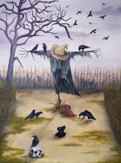 Offerings to the scarecrow