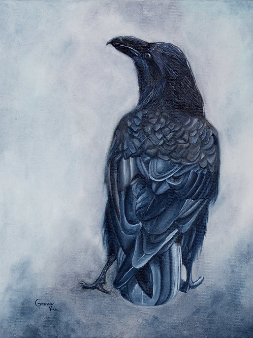 """The Crow"" Original Oil Painting"