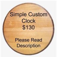 Customized Clock - Simple Design