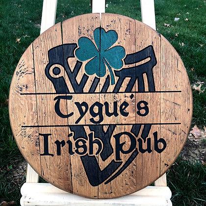 Personalized Irish Pub - 4 leaf clover