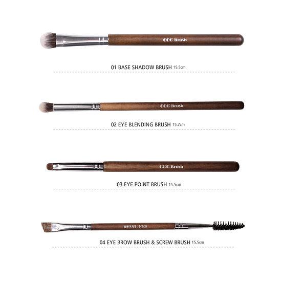 Coringco, Набор натуральных кистей для макияжа Real Collectors Edition 4P Set