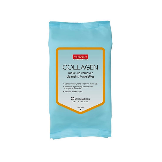 Purederm, Очищающие салфетки Collagen Make-up Remover Cleansing Towelettes