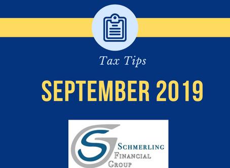 September Tax Tips