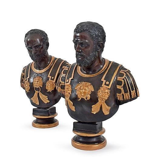 PAIR OF BRONZE BUSTS OF ROMAN.jpg