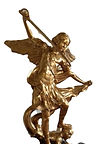 San Michele bronze sculpture