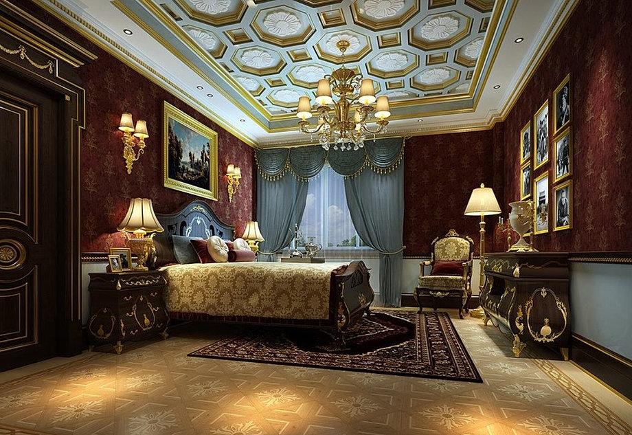 Wonderful Five Star Hotel Luxury Bedroom Interior 3D Design. Part 26