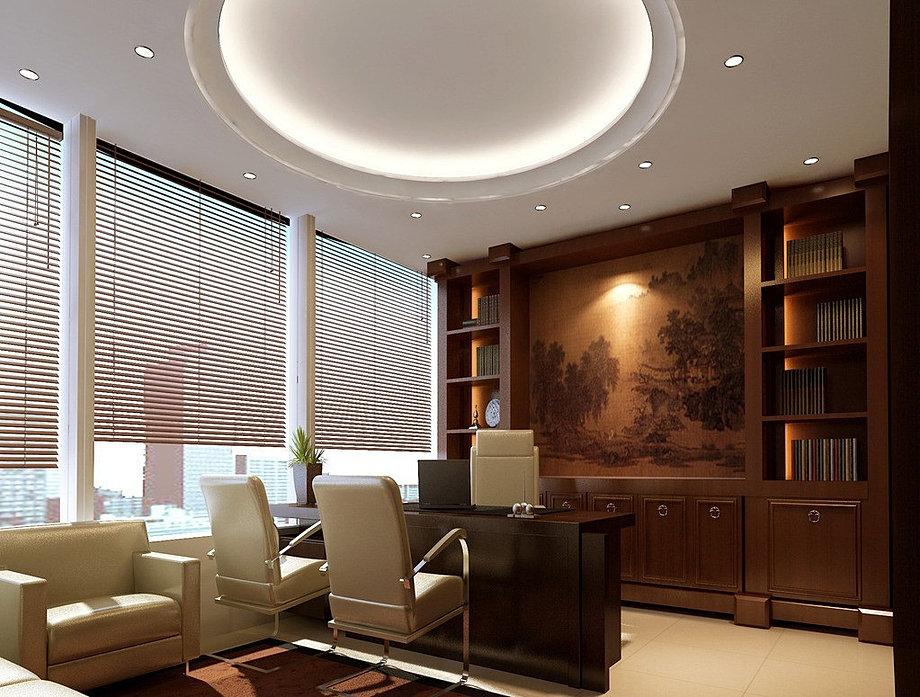 3d Office Interior Design Louver Jpg