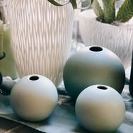 Vasen in blau/weiss