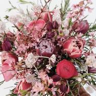 Blumenstrauss Rosa- und Rottöne