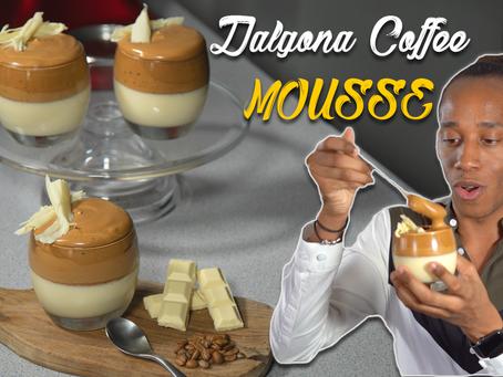 Dalgona Coffee Dessert Recipe | Homemade Whipped Coffee Dessert