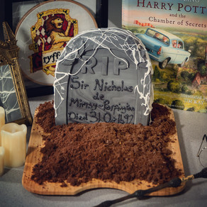 Tombstone Cake Recipe | The Deathday Party | My Harry Potter Kitchen II (Recipe 36)