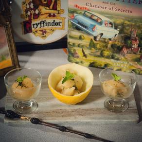 Hufflepuff Honeydew Melon & Mint Sorbet Recipe | My Harry Potter Kitchen II (Recipe 43)