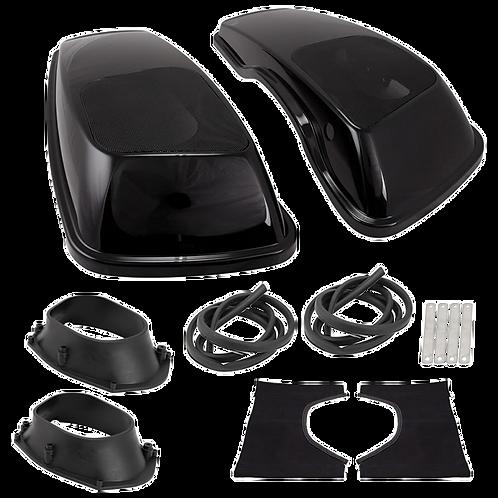 "Saddle Tramp Harley 2014-Up Saddlebag Covers w/6x9"" Speaker Adaptors"