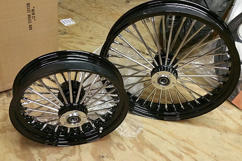 Fat 48 King Spoke Set by Ultima Black and chrome