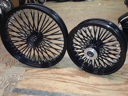 Black King Spoke wheel set 21x3.5 front & 16x3.5 rear
