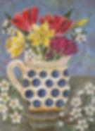Old Spotty Jug, Spring Flowers.jpg