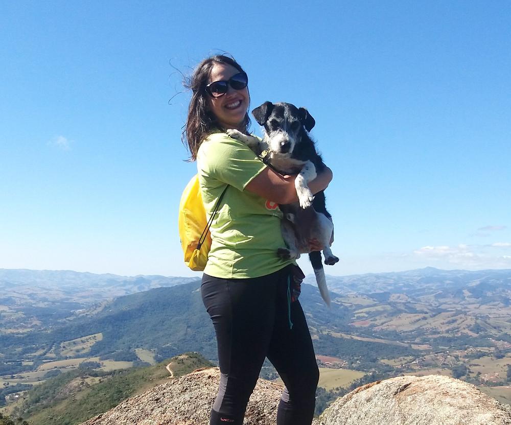 cãomigo, sharlene, bob, trilha com cachorro