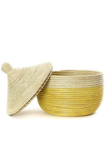 Mustard Dipped Storage Basket [Senegal]