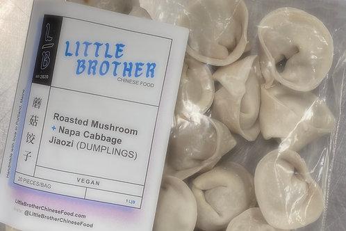 Roasted Mushroom Jiaozi (DUMPLINGS)