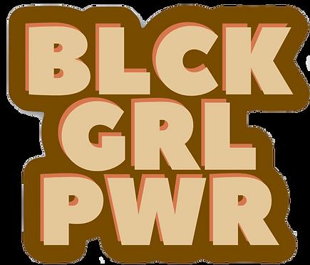 Black Girl Power Sticker