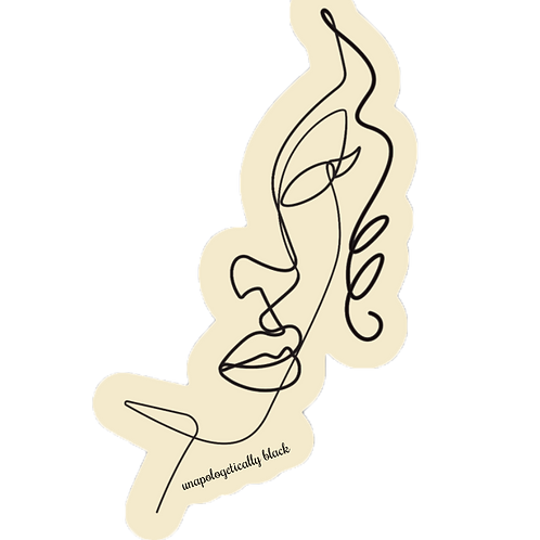 Unapologetically Black Cut Out Sticker