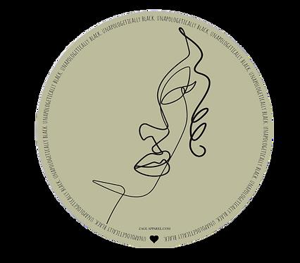 Circle Unapologetically Black Sticker