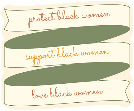 Black women ribbon sticker