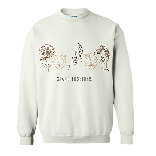 Stand Together White Crewneck