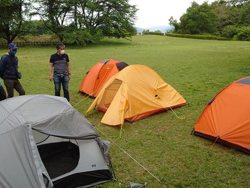 「初めてのテント泊山行」(講習会)を開催いたしました