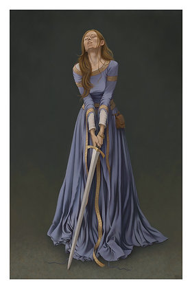 Dame à l'épée II - 40x60 cm