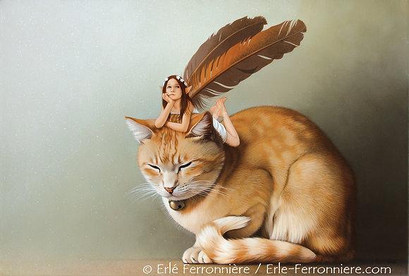 La Fée sur le chat roux (couleur)